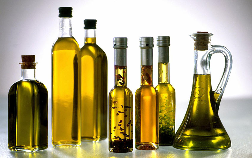 Different types of food oils