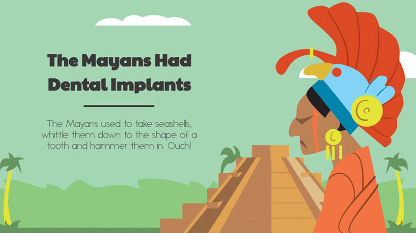 The Mayans had dental implants